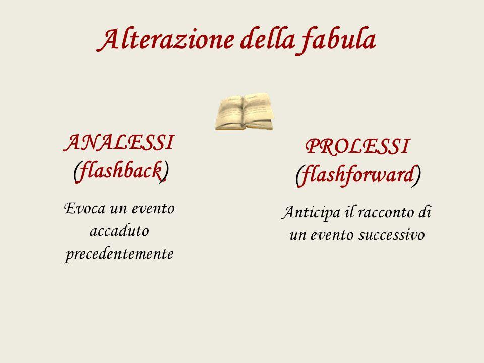 Alterazione della fabula PROLESSI (flashforward)