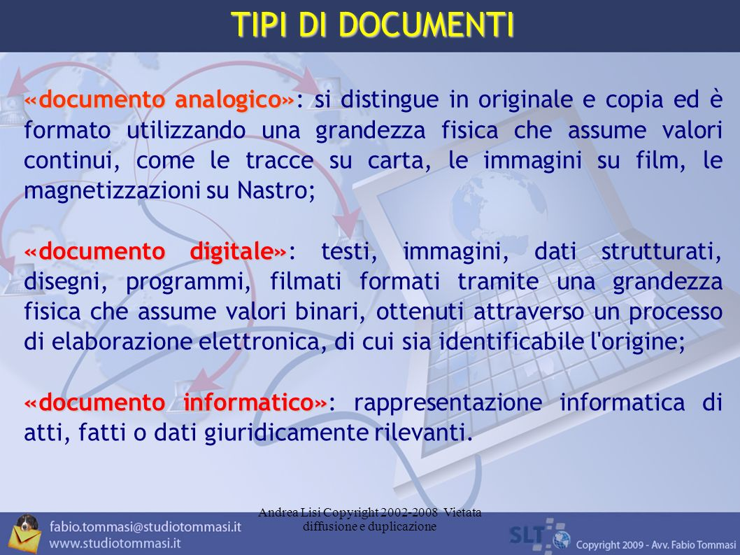 Andrea Lisi Copyright 2002-2008 Vietata diffusione e duplicazione