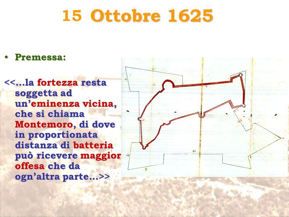 Ottobre 1625 15. Premessa:
