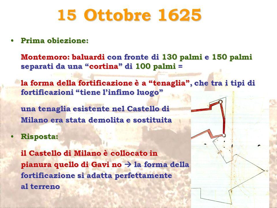 Ottobre 1625 15 Prima obiezione: