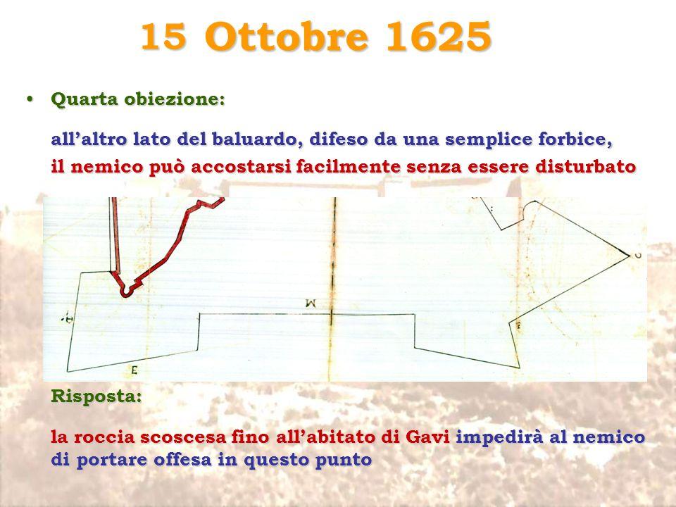 Ottobre 1625 15 Quarta obiezione: