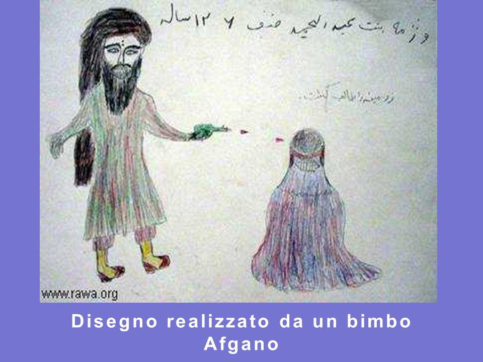 Disegno realizzato da un bimbo Afgano