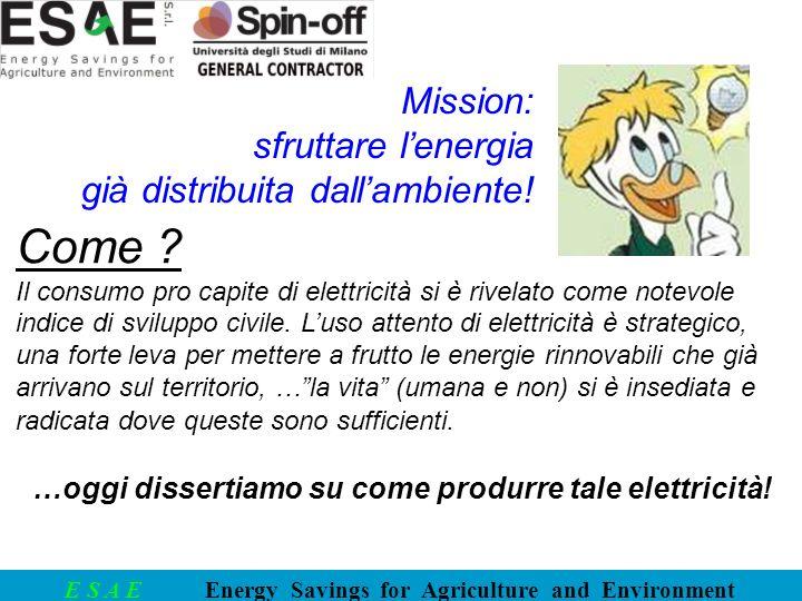 Come Mission: sfruttare l'energia già distribuita dall'ambiente!
