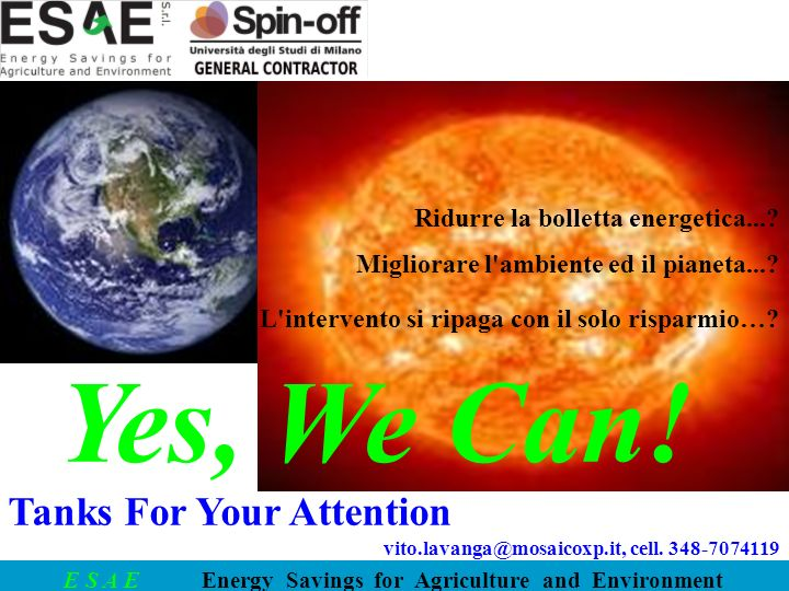 Yes, We Can! Tanks For Your Attention