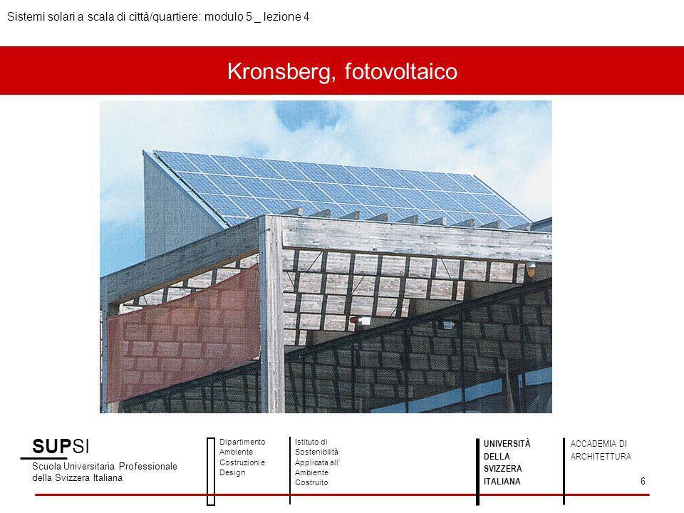 Kronsberg, fotovoltaico