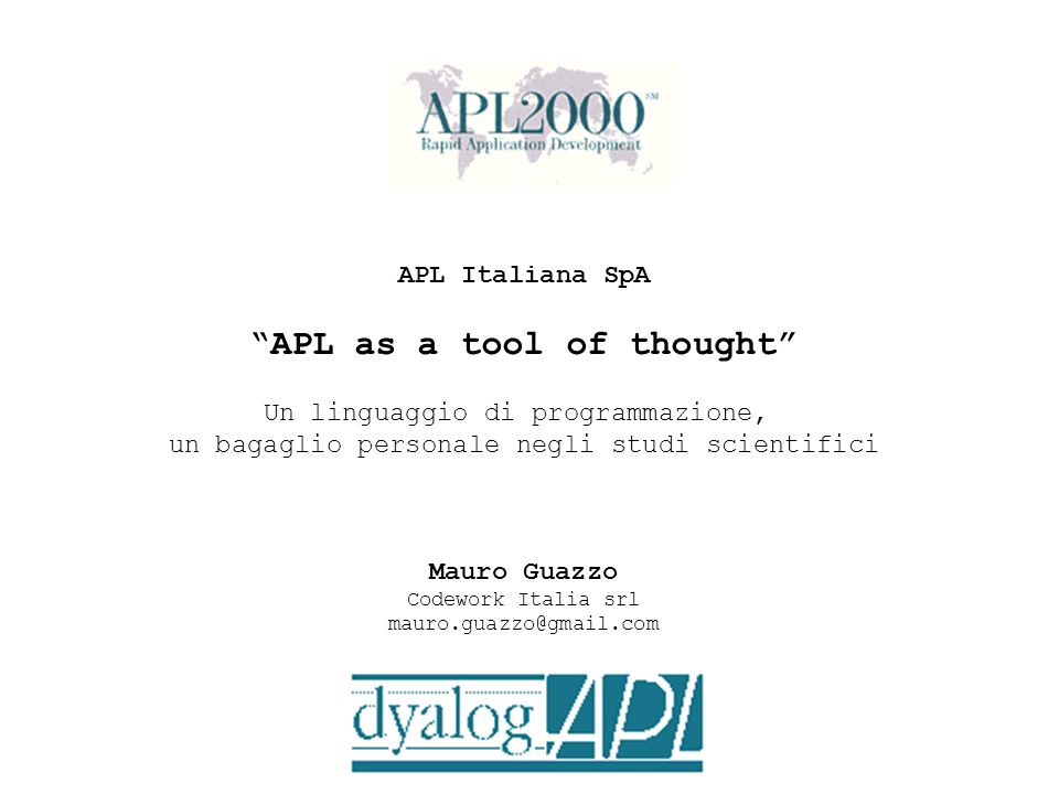 APL as a tool of thought
