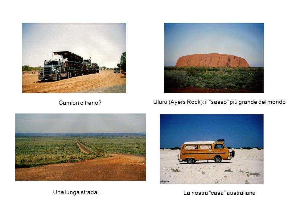 Camion o treno. Uluru (Ayers Rock): il sasso più grande del mondo.
