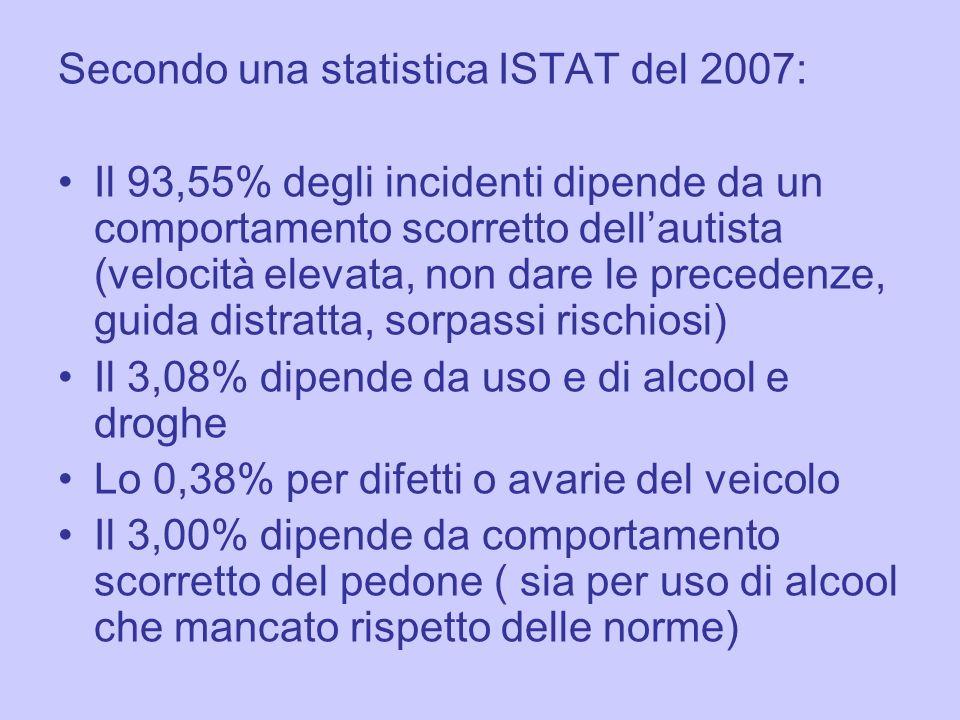 Secondo una statistica ISTAT del 2007: