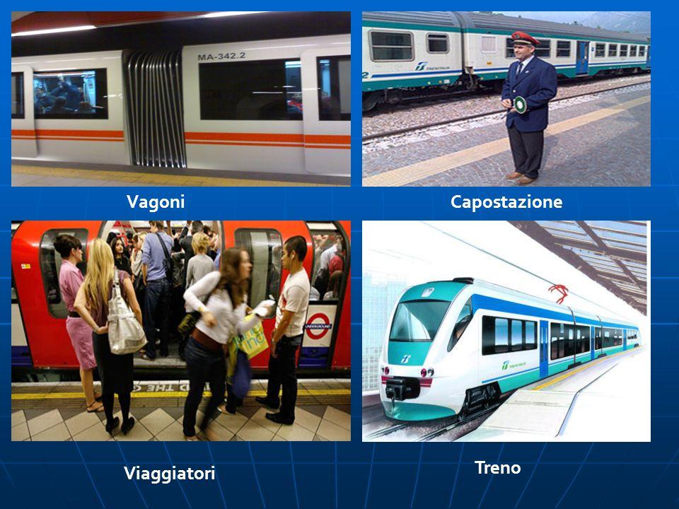 Vagoni Capostazione Treno Viaggiatori