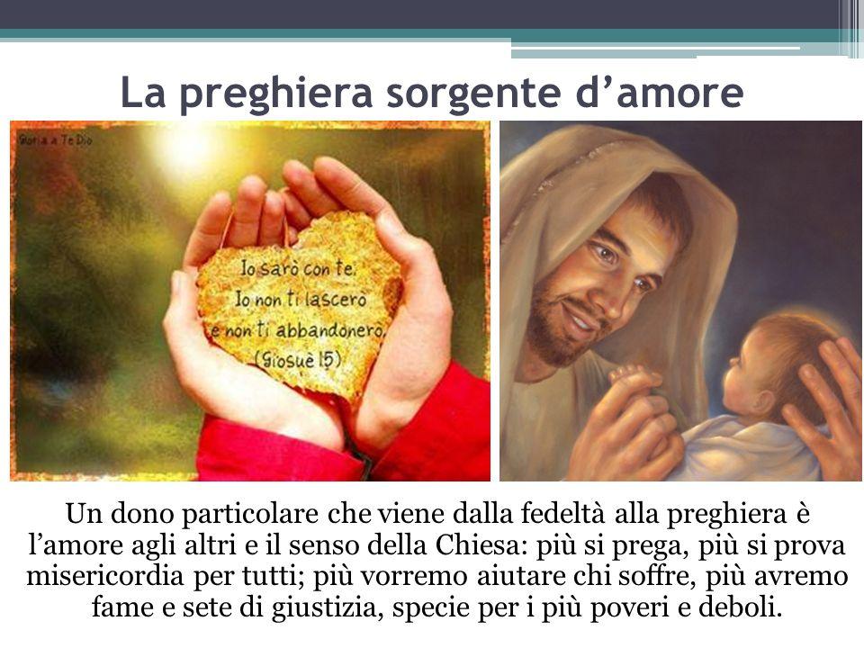 La preghiera sorgente d'amore