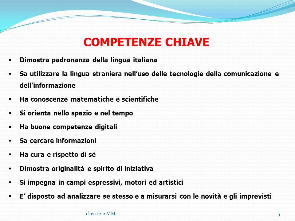 COMPETENZE CHIAVE Dimostra padronanza della lingua italiana
