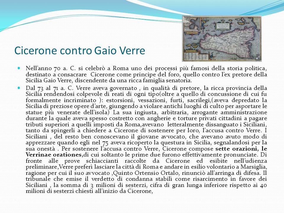 Cicerone contro Gaio Verre