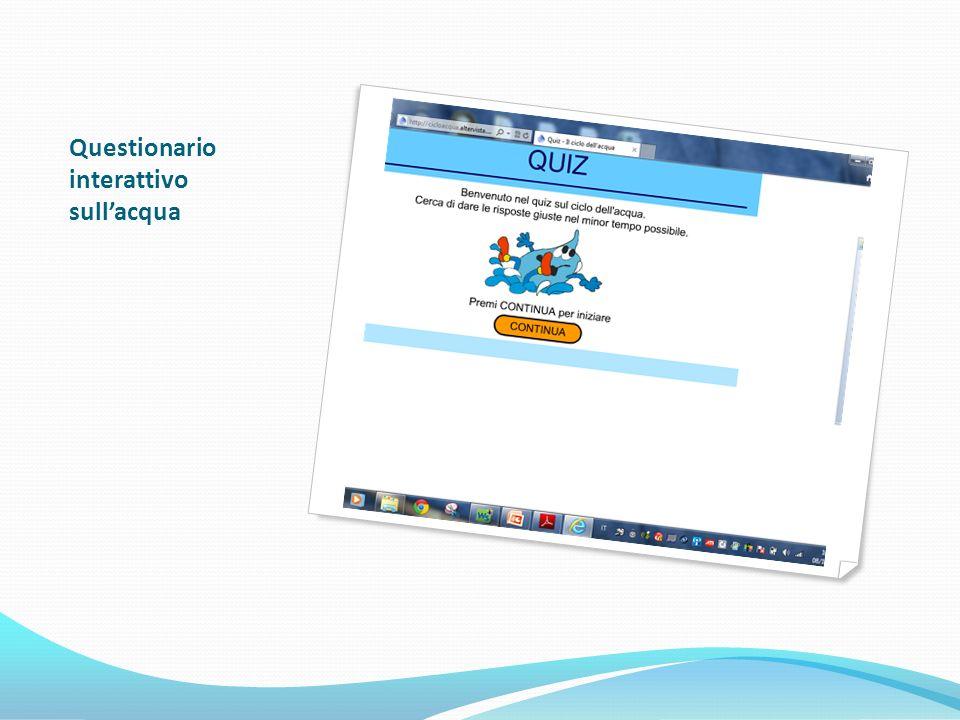Questionario interattivo sull'acqua