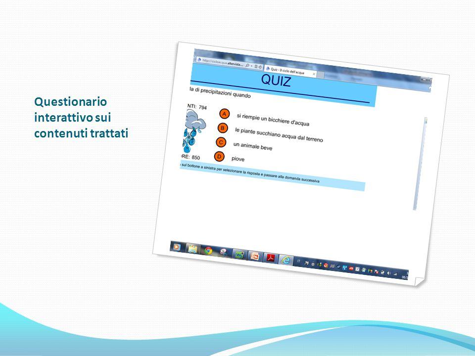 Questionario interattivo sui contenuti trattati