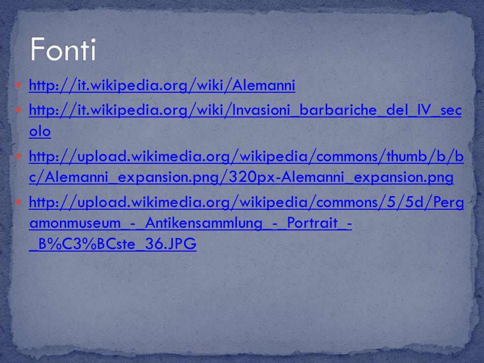 Fonti http://it.wikipedia.org/wiki/Alemanni