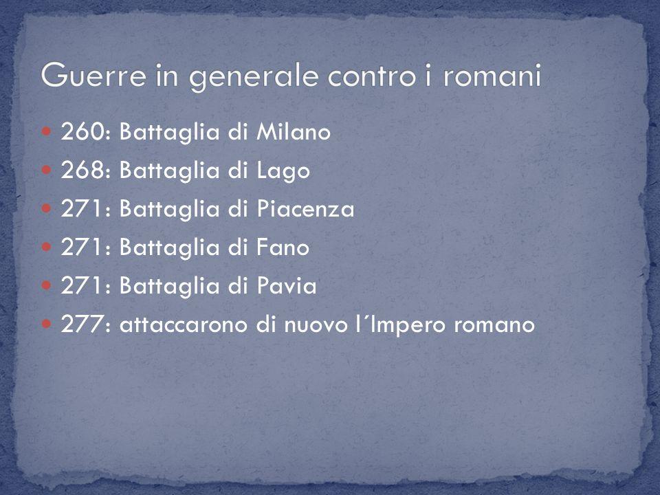 Guerre in generale contro i romani
