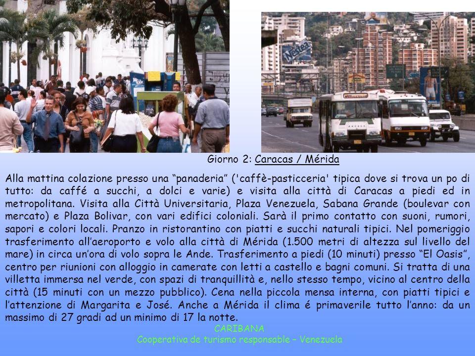 Giorno 2: Caracas / Mérida