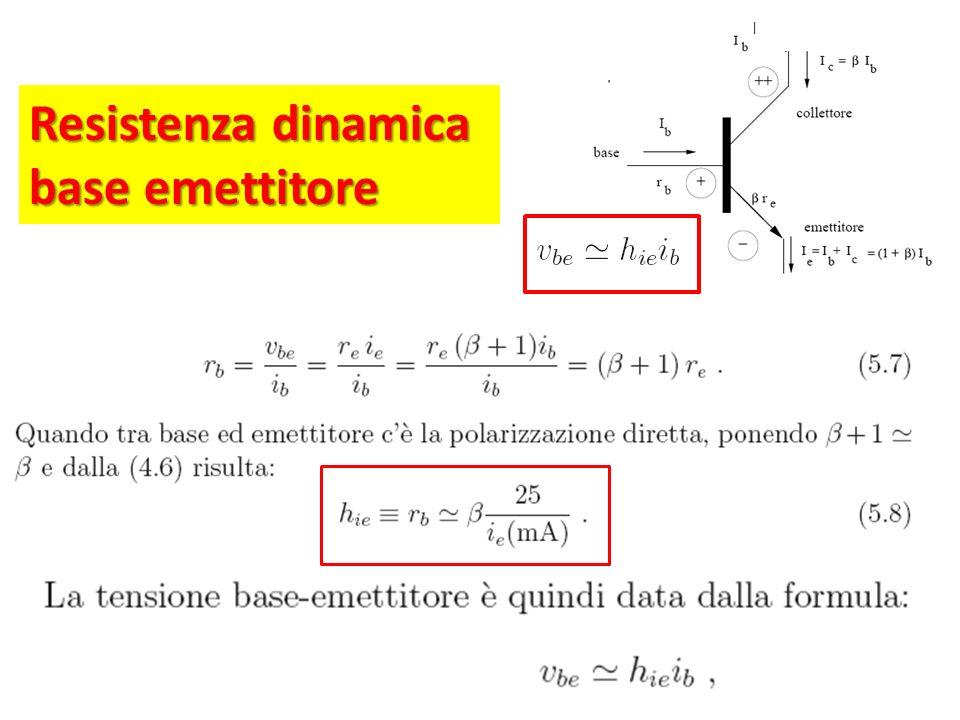 Resistenza dinamica base emettitore