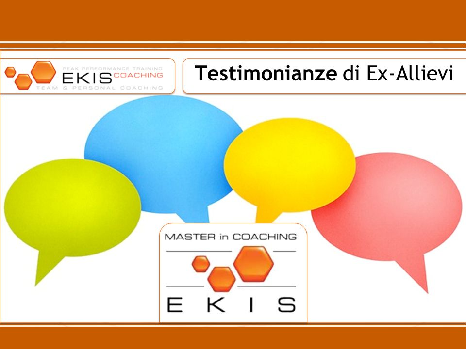 Testimonianze di Ex-Allievi