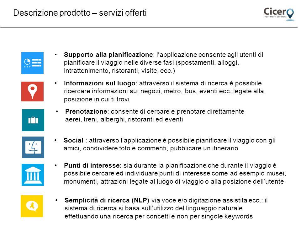 Descrizione prodotto – servizi offerti