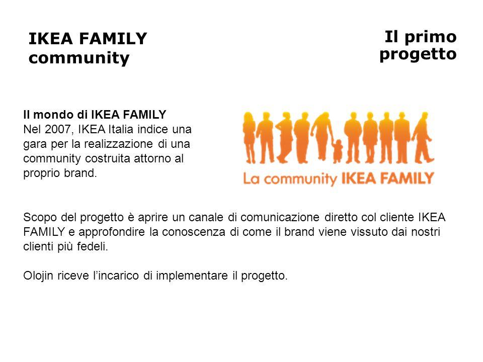 IKEA FAMILY community Il primo progetto Il mondo di IKEA FAMILY
