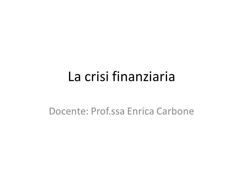 Docente: Prof.ssa Enrica Carbone