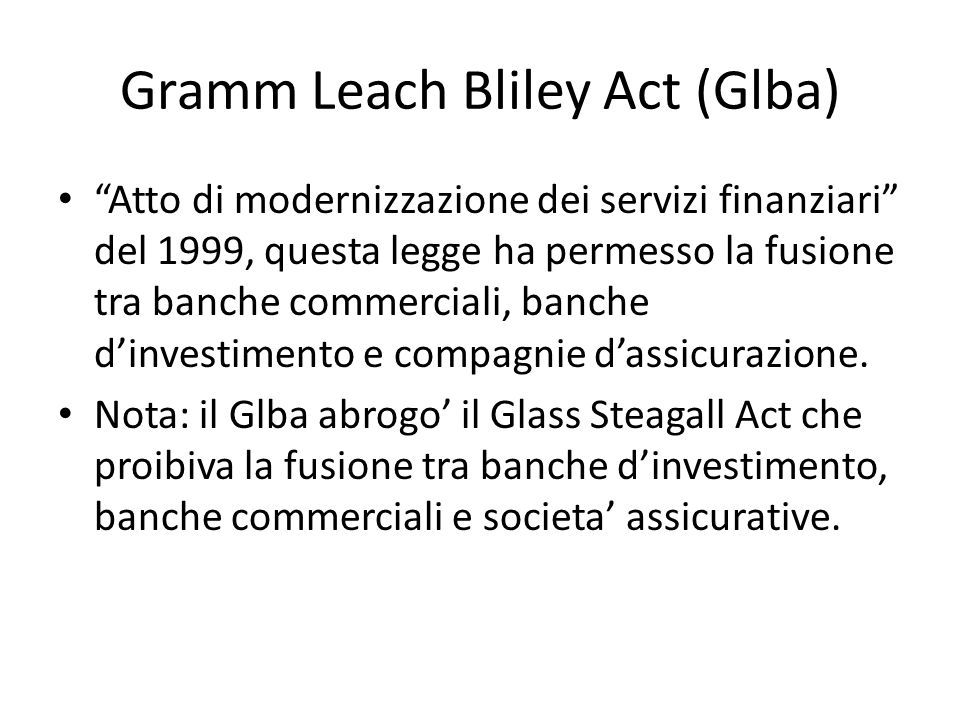 Gramm Leach Bliley Act (Glba)