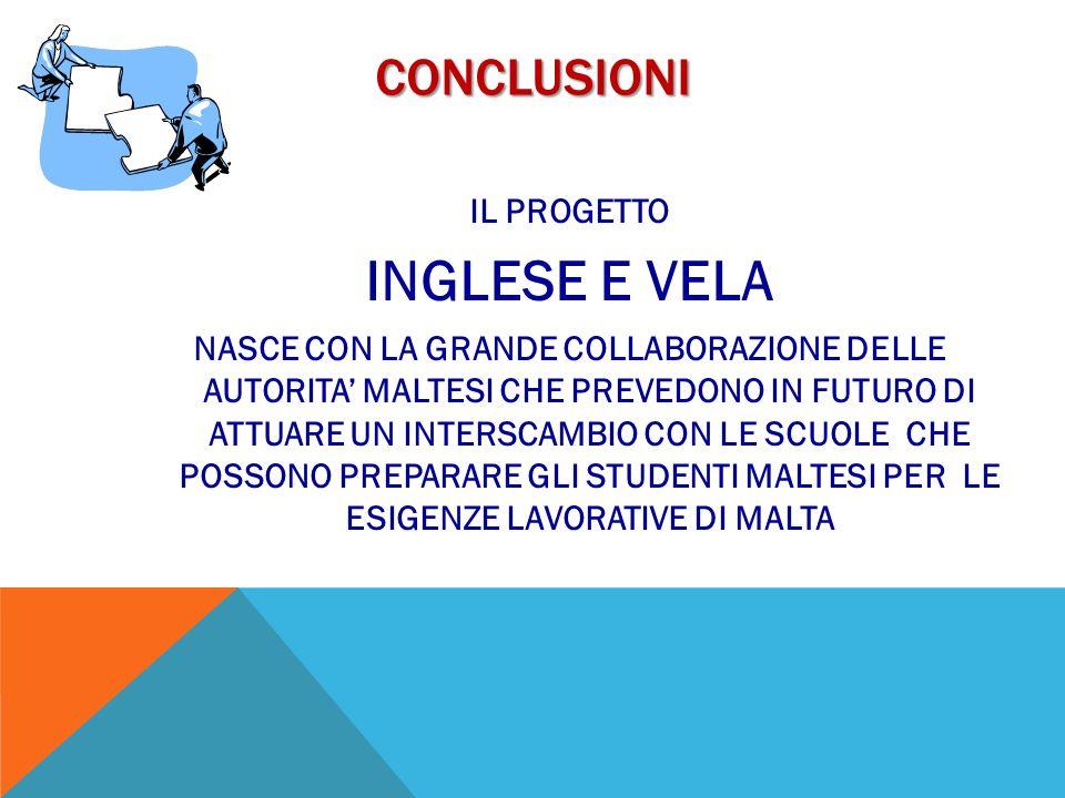 INGLESE E VELA Conclusioni IL PROGETTO