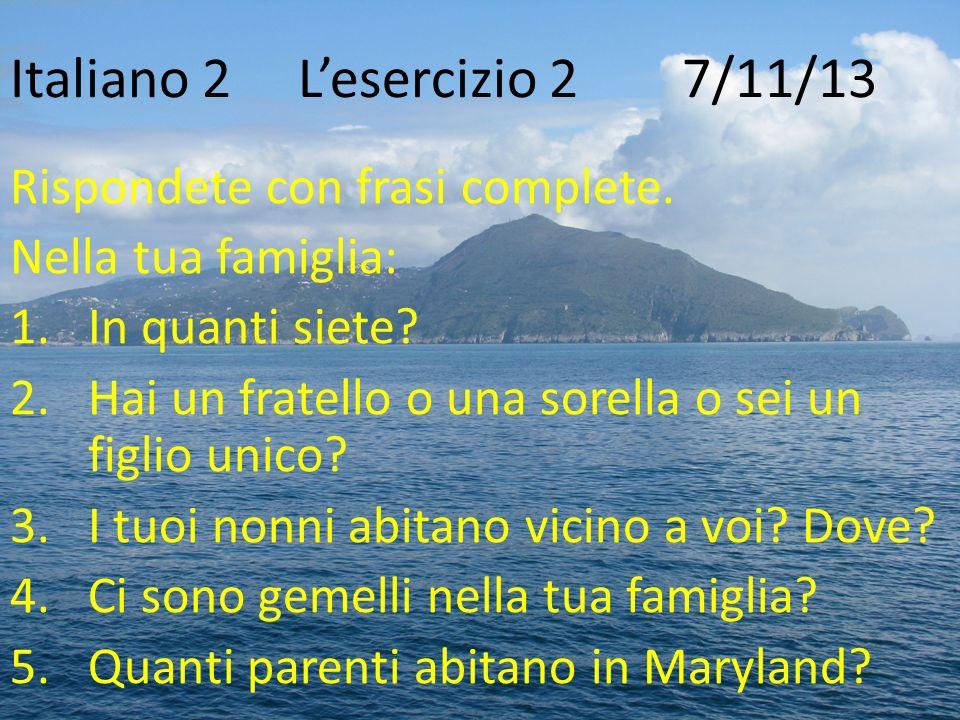Famoso Italiano 2 L'esercizio 1 6/11/13 - ppt scaricare PB88