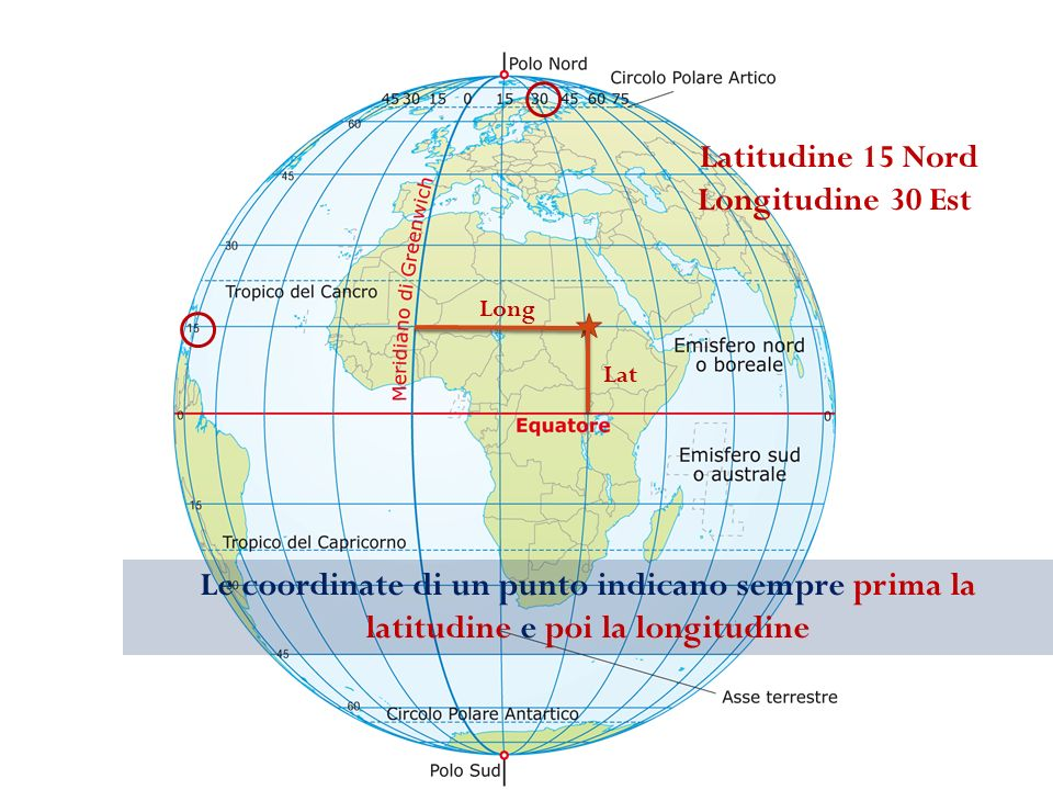 Latitudine 15 Nord Longitudine 30 Est