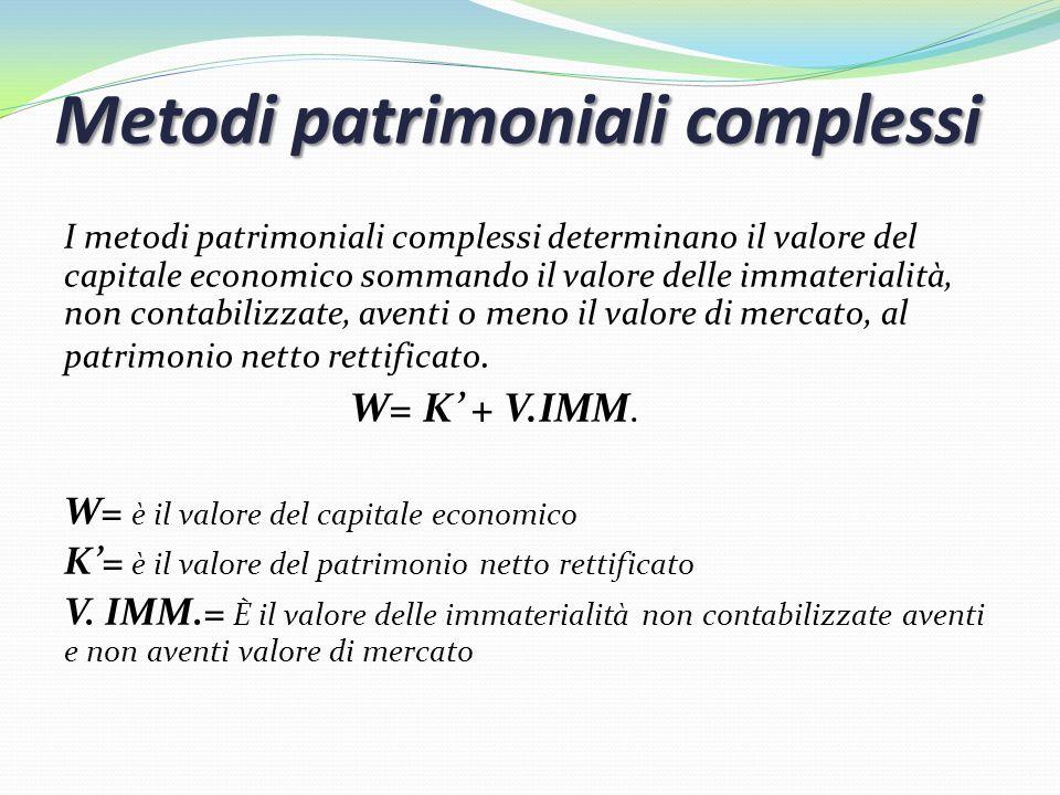 Metodi patrimoniali complessi