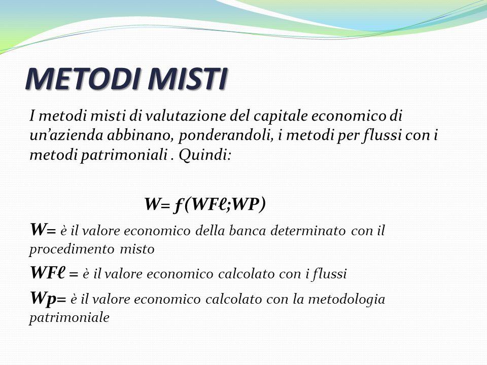 METODI MISTI W= ƒ(WFℓ;WP)