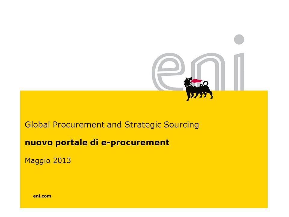 nuovo portale di e-procurement