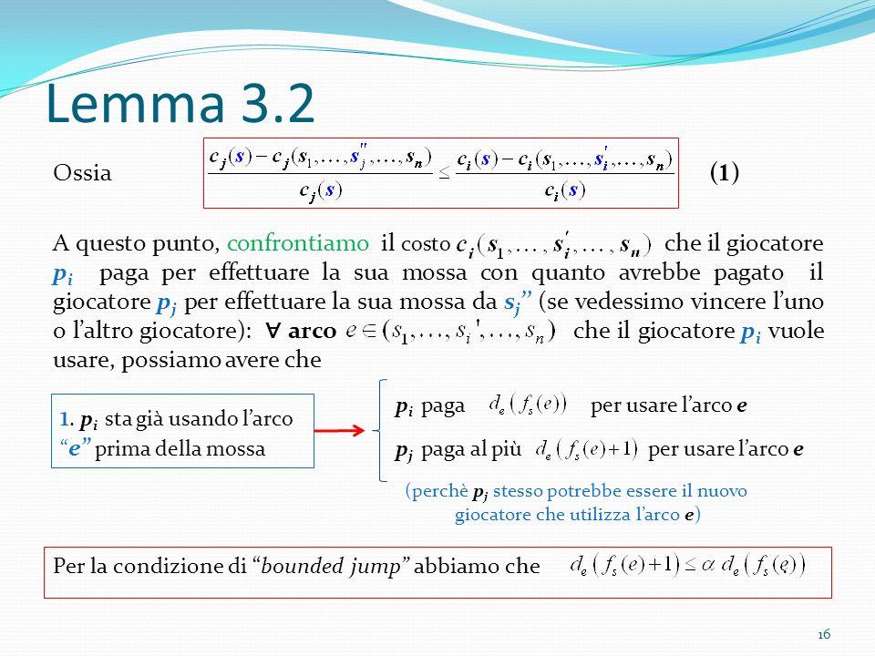Lemma 3.2 1. pi sta già usando l'arco e prima della mossa (1)