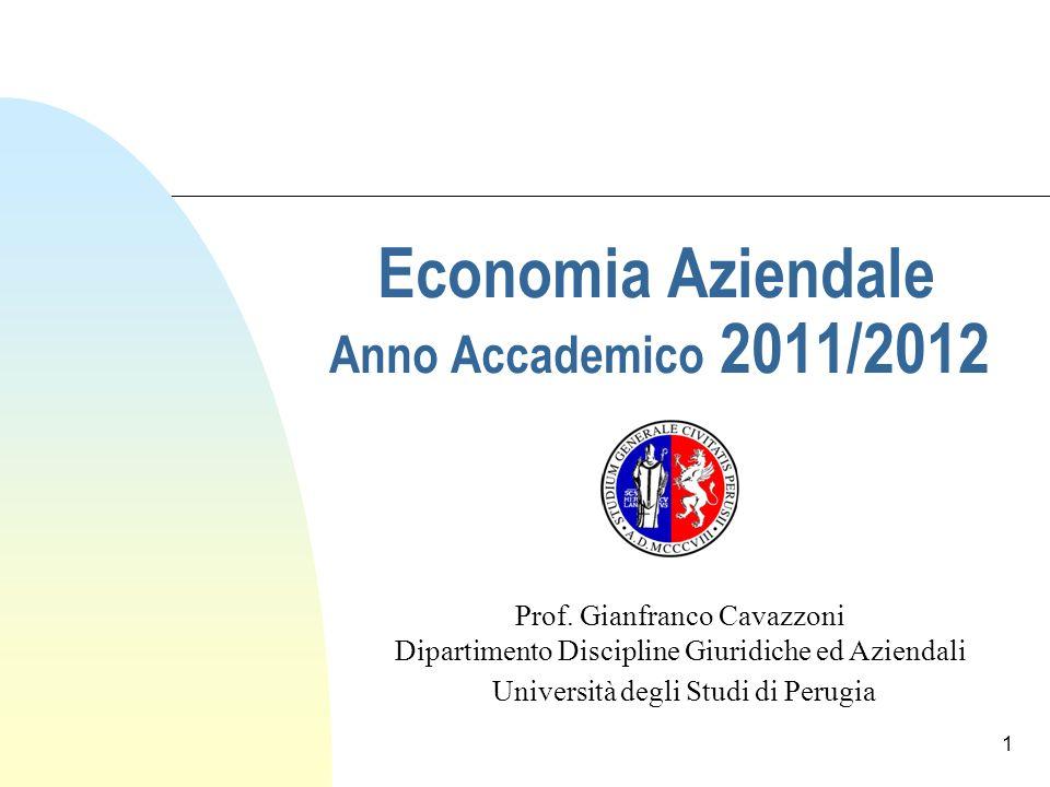 Economia Aziendale Anno Accademico 2011/2012