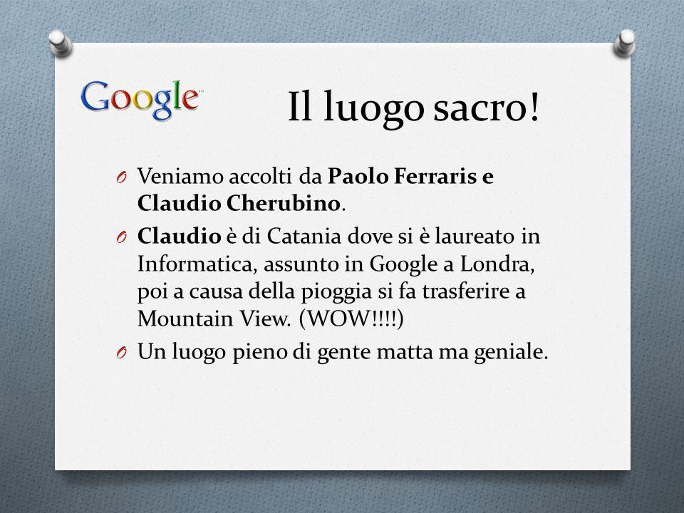 Il luogo sacro! Veniamo accolti da Paolo Ferraris e Claudio Cherubino.