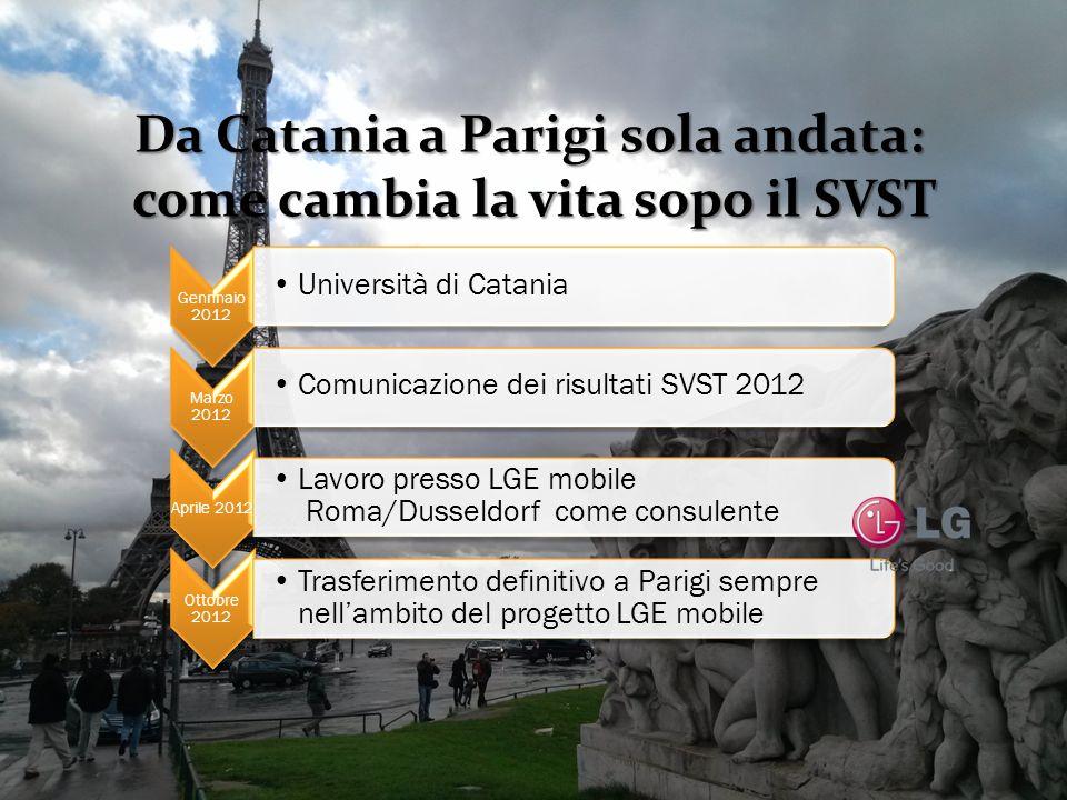 Da Catania a Parigi sola andata: come cambia la vita sopo il SVST