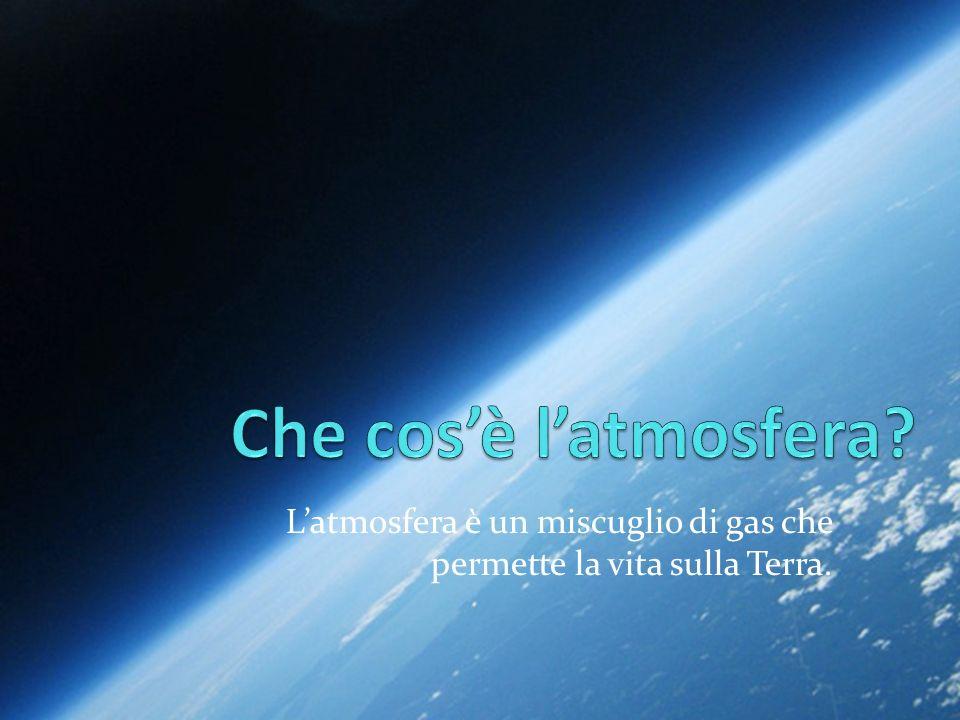 L'atmosfera è un miscuglio di gas che permette la vita sulla Terra.