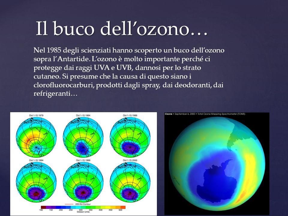Il buco dell'ozono…