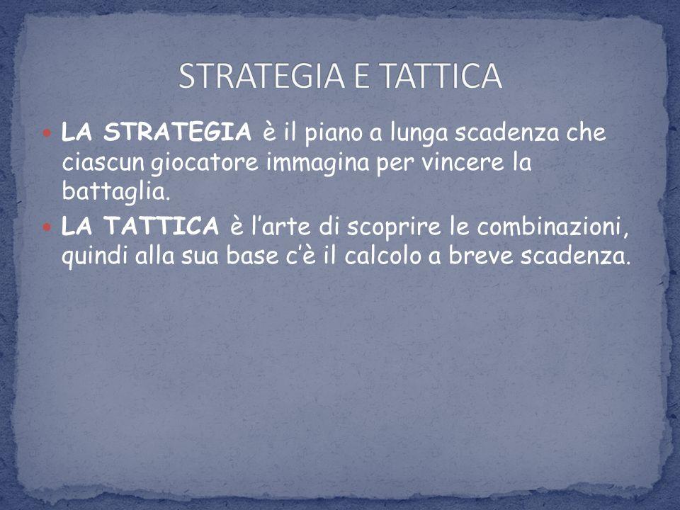 STRATEGIA E TATTICA LA STRATEGIA è il piano a lunga scadenza che ciascun giocatore immagina per vincere la battaglia.
