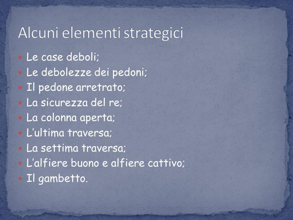 Alcuni elementi strategici
