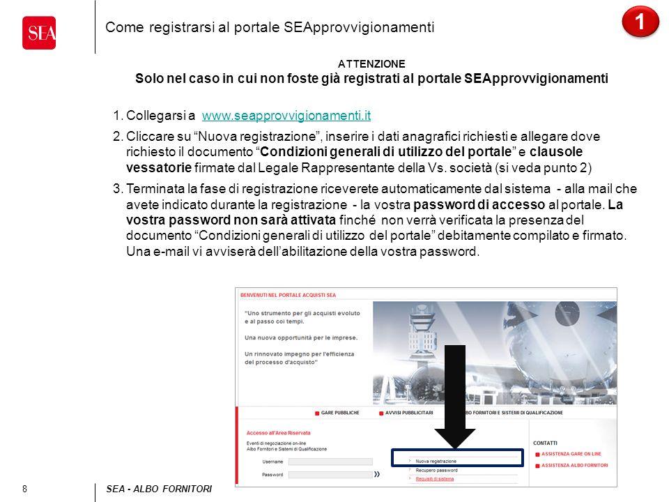 Come registrarsi al portale SEApprovvigionamenti