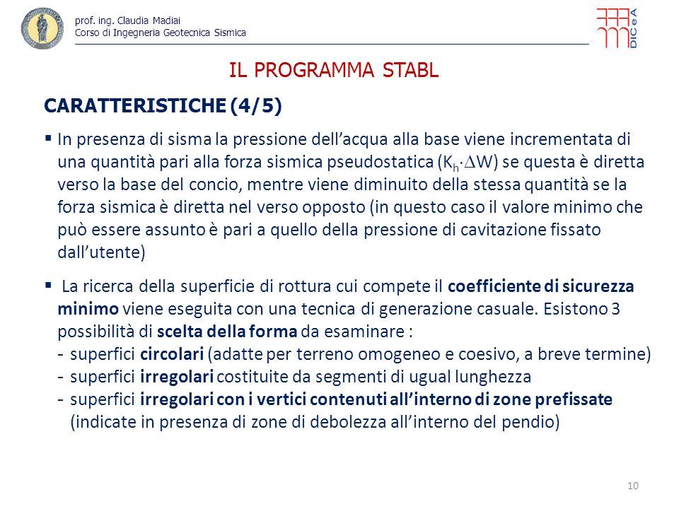 IL PROGRAMMA STABL CARATTERISTICHE (4/5)