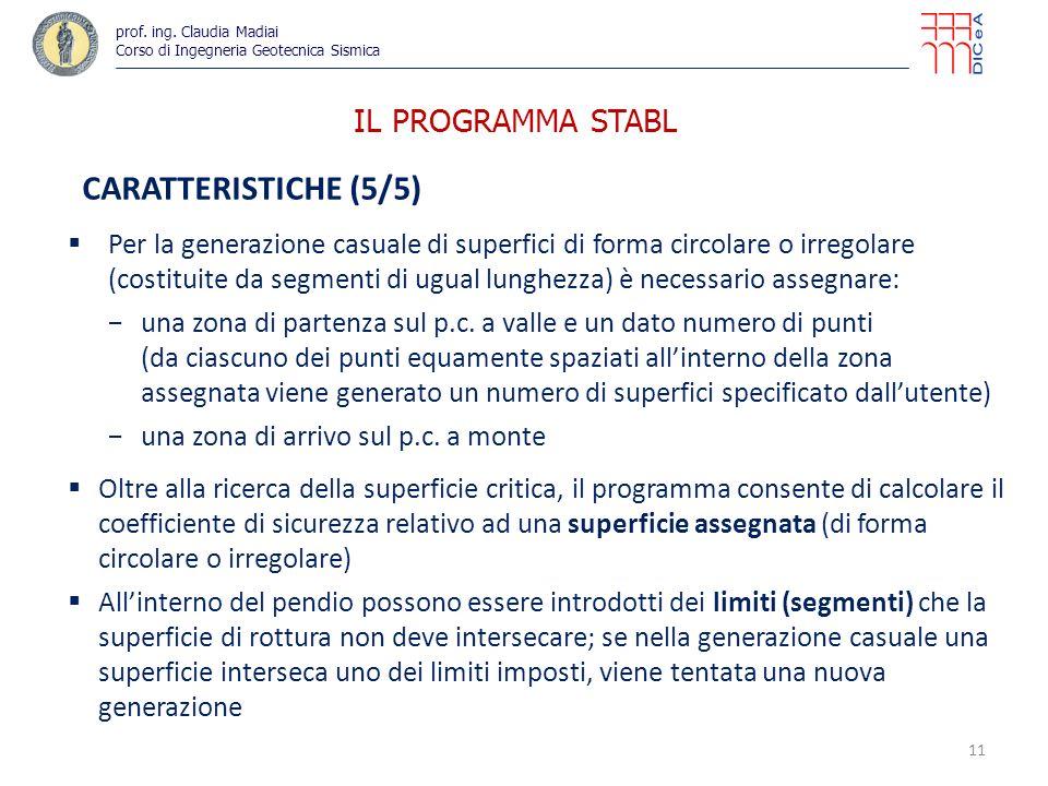 IL PROGRAMMA STABL CARATTERISTICHE (5/5)
