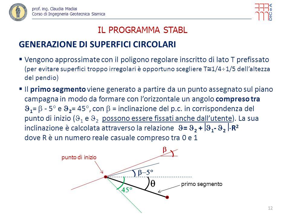 GENERAZIONE DI SUPERFICI CIRCOLARI