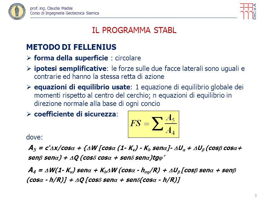 IL PROGRAMMA STABL METODO DI FELLENIUS