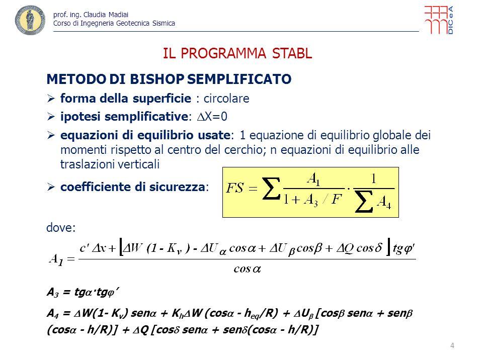 IL PROGRAMMA STABL METODO DI BISHOP SEMPLIFICATO