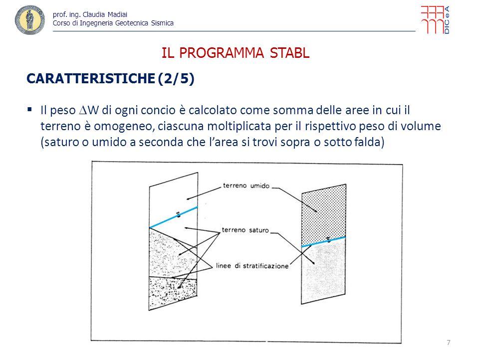 IL PROGRAMMA STABL CARATTERISTICHE (2/5)