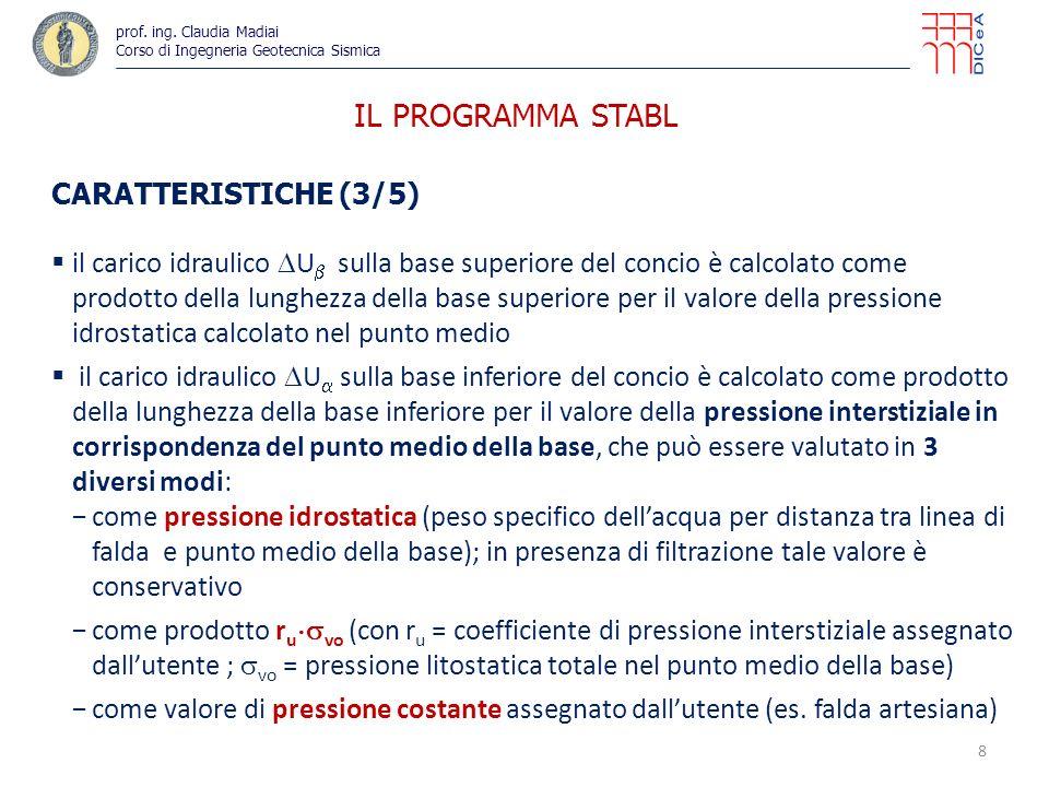 IL PROGRAMMA STABL CARATTERISTICHE (3/5)