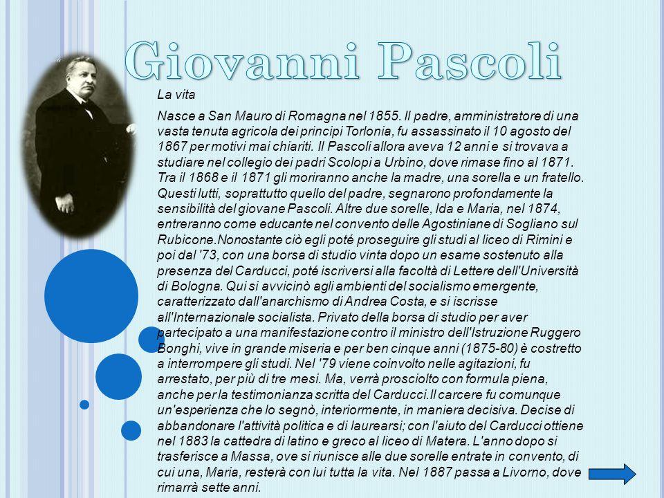 Giovanni Pascoli La vita
